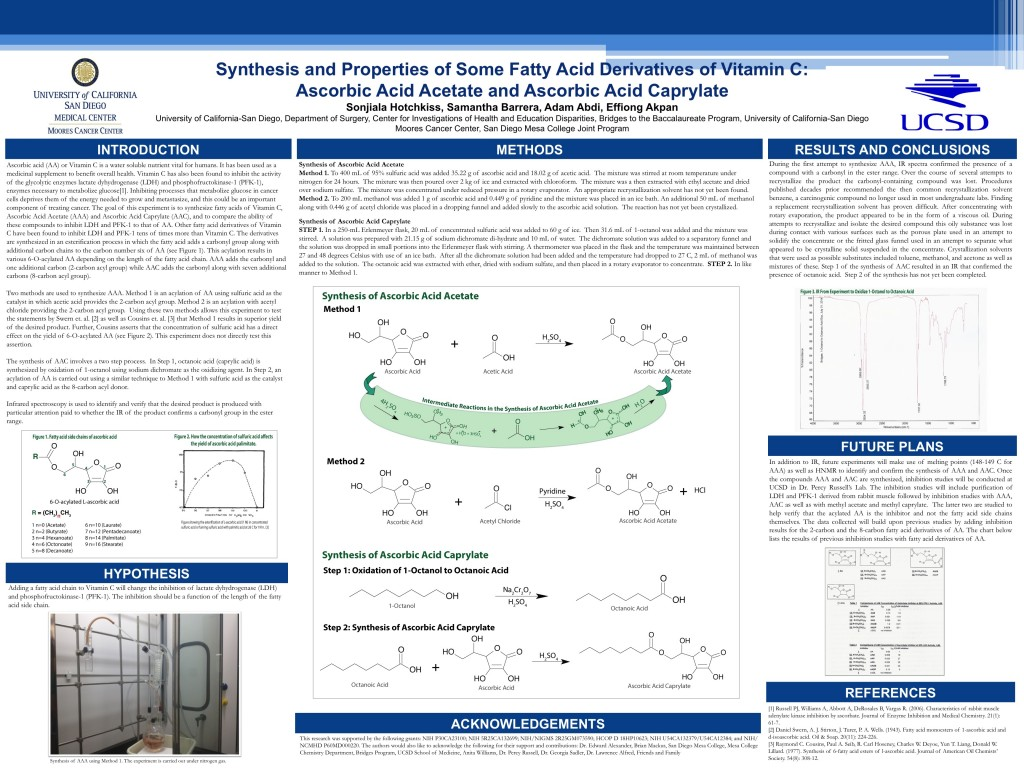 Synthesis and Properties of Some Fatty Acid Derivatives of Vitamin C: Ascorbic Acid Acetate and Ascorbic Acid Caprylate