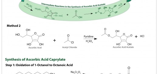 Synthesis of the esters ascorbic acid acetate and ascorbic acid caprylate